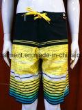 Os Shorts nadadores da placa do poliéster/algodão do desgaste secam rapidamente para o homem/mulheres