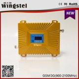 Impulsionador do sinal de GSM/WCDMA 900/2100MHz 2g 3G 4G com antena do Yagi