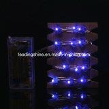 """Lumières étoilées de câblage cuivre de lumières de chaîne de caractères de la forme 100 DEL 33FT de """"bat"""" pour le mariage d'usager de patio de chambre à coucher"""