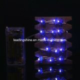 Luzes a pilhas de cobre ao ar livre internas da corda do diodo emissor de luz 7.2FT Halloween da forma 20 do bastão do fio