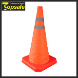 برتقاليّ قابل للانهيار حركة مرور مخروط
