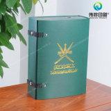 Caixa de presente de empacotamento extravagante de carimbo quente personalizada do papel da impressão/PVC