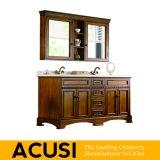 Americano simple estilo caliente vendiendo muebles de baño de madera maciza de gabinete de baño de vanidad (ACS1-W21)