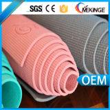 Esteras cómodas antirresbaladizas de la yoga de Eco de la insignia de encargo del certificado de RoHS