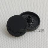 マットの衣類のための黒く明白な金属のスナップボタン