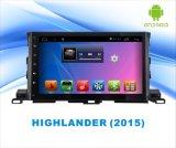 Video Android dell'automobile del sistema DVD GPS per l'abitante degli altipiani scozzesi 2015 schermo di tocco di 10.1 pollici con WiFi/Bluetooth/TV