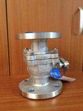 Vávula de bola sin reducción en la sección de paso del acero de molde