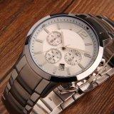 Relojes de Mens del cuarzo del acero inoxidable del movimiento de Swisss