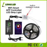 Nécessaire sec de lumière de bande du WiFi contrôlé imperméable à l'eau DEL de 12V 5m/Roll $$etAPP