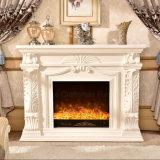 Ce Approuvé sculpture Bois Home Furniture Electric Fireplace (327B)