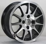 Rueda negra de la aleación de aluminio del coche de 15 pulgadas con el OEM y el ODM: