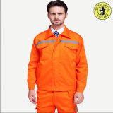 OEM обслуживает форму нашивки померанцового отражательного инженерства Workwear безопасности равномерную отражательную