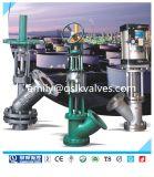 Quanshun Wcbのフランジディスクタイプ手動作動させた貯水タンクのBotttomの角度弁Fb45y-10/16