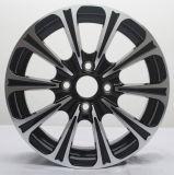 Rotella nera della lega di alluminio dell'automobile da 15 pollici per l'automobile
