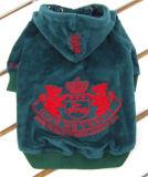 Couche de corail juteuse de Hoodie d'animal familier de l'hiver de velours de marque d'escompte