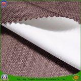 Tissu franc imperméable à l'eau de polyester tissé par textile à la maison enduit s'assemblant le tissu de rideau en arrêt total pour le rideau prêt à l'emploi en guichet