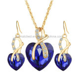 Liebes-Inner-Formindische Brautkubikzirconia-Schmucksache-Halsketten-Dubai-GoldRani Haar Schmucksache-Sets