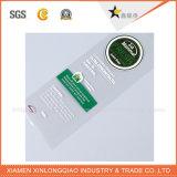 Etiqueta engomada adhesiva tejida de la insignia de la impresión de la escritura de la etiqueta de la ropa de la etiqueta de encargo de la tela