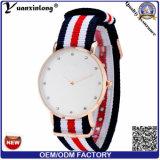 Yxl-219 la correa de nylon 2016 de la OTAN de los relojes del cuarzo del acero inoxidable de la señora Diamond Watch Waterproof mira a señoras