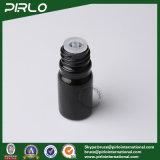 bottiglie di vetro nere dell'olio essenziale 5ml con il coperchio a vite bianco