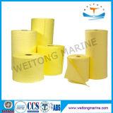 Rolo absorvente do produto químico amarelo de Hazmat da resposta do derramamento