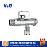 Латунным угловой вентиль покрынный кромом латунный (VG-E11061)
