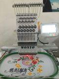 Одиночная головная крышка и плоская компьютеризированная машина вышивки конструкций брата игл машины 12 вышивки