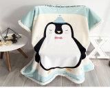 Pingouin couverture épaisse de bébé de 2 couches