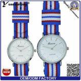 Nylonnato-gute Qualitätspaar-Uhr des hohen Grad-Yxl-479 2016 brücke-Uhr Schweizer Movt Sport-beiläufiges Kleid-der Dame-Uhren