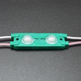 Módulo impermeable del color verde 2SMD5630 12V 1W LED del módulo de la inyección del alto brillo LED