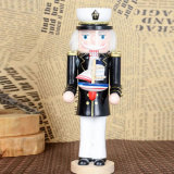 Estátua tamanho real do Nutcracker da decoração de madeira do Natal dos ofícios para crianças