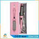 2 in 1 raddrizzatore caldo del bigodino di capelli che liscia i rulli di ceramica della spazzola con la designazione di raddrizzamento del ferro della spazzola del ferro di arricciatura del pettine