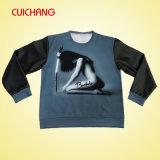 Kundenspezifische Qualitäts-Form-Sweatshirts mit ledernen Hülsen