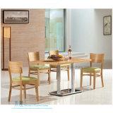 Cadeira de jantar de madeira contínua moderna para o café (HW-009C)