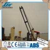 Gru marina idraulica elettrica della piattaforma della nave