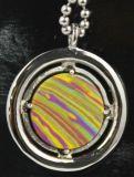 De glanzende Holle Bovenkant poetste uit de Zilveren Juwelen van de Tegenhanger van de Charme van het Hart op