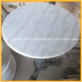 Custom Cheap Guangxi White Marble / Stone Round Coffee / Mesa de jantar Countertop