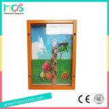 Placa de jogo de madeira padrão ASTM na parede