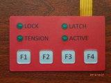 Выполненный на заказ красный пластичный переключатель мембраны любимчика верхнего слоя переключателя мембраны