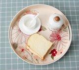 BSCI Revisions-Bambusfaser-Küchenbedarf-rundes Druck-Tellersegment (YK-TP7007)