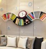 Étagère de flottement de mur d'entreposage de décoration en bois de salle pour la crémaillère