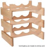 Estante de madera del vino de la pila para el estante del almacenaje de estante de visualización del vino