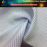 우연한 셔츠를 위한 Slallow 조롱 폴리에스테 또는 면 털실 염색된 직물