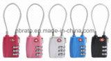 Blocage en alliage de zinc de câble de Tsa de la combinaison 3-Dial