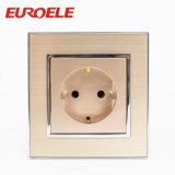 El color 86*86m m 250V del oro de la alta calidad escoge el socket cambiado