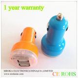 車の充電器の熱い販売5V 2.1A +1A車の二重マイクロUSBはUSB二倍になる
