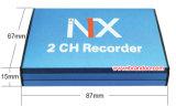 2CH音声との小型SDのカード車DVR移動式DVR