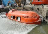 Barco salva-vidas totalmente incluido do F.R.P 102persons, canoa de salvação marinha do SOLAS