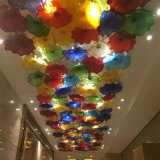 Vidrio decorativo que cuelga la lámpara pendiente rota del color para el restaurante