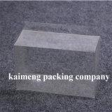 Rectángulo de regalo claro plegable del PVC del plástico de la buena calidad con la impresión de la insignia (rectángulo de regalo del PVC)